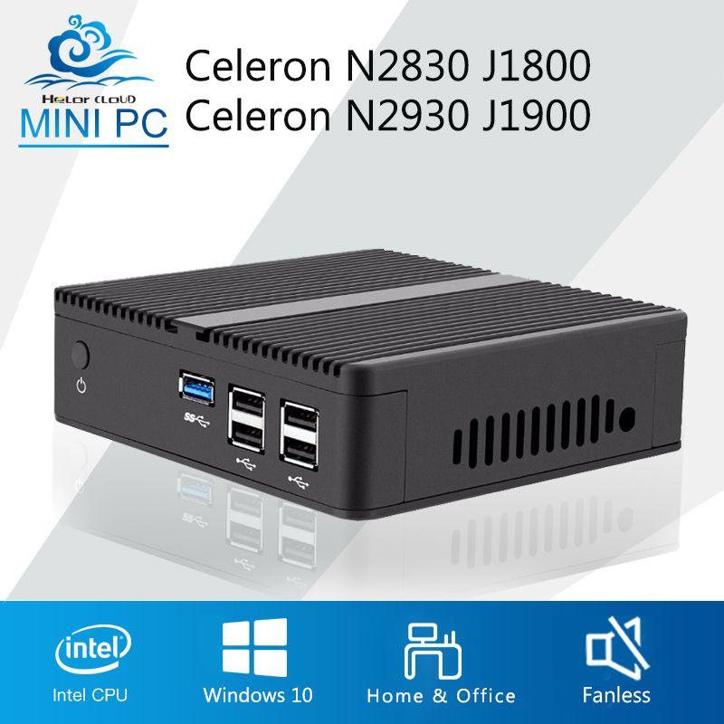 Mini PC Celeron J1900 N2930 Quad Core Windows 7 Celeron J1800 N2830 NUC Barebone Mini-Ordinateur De Bureau Bureau DDR3 RAM HTPC HDMI