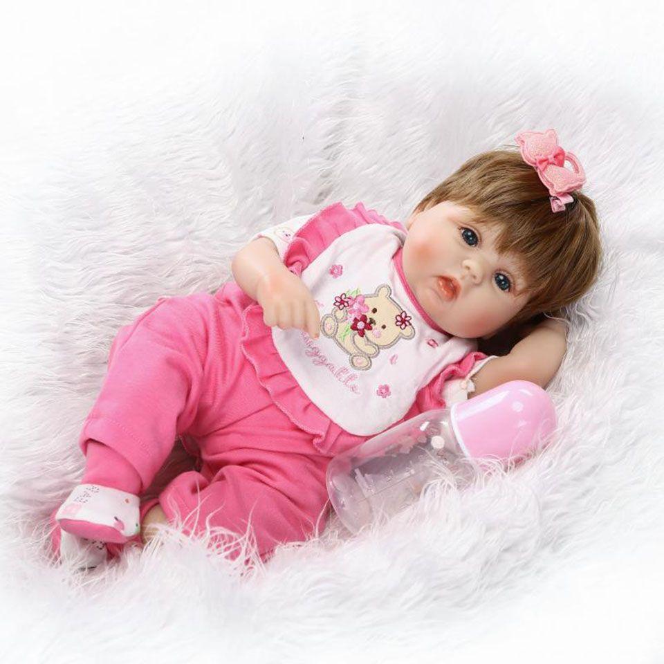 Npkcollection 40 см жив новорожденных Реалистичная мягкая силиконовая Reborn Baby Куклы 16 дюймов ручной работы bonecas Рождество Brinquedos