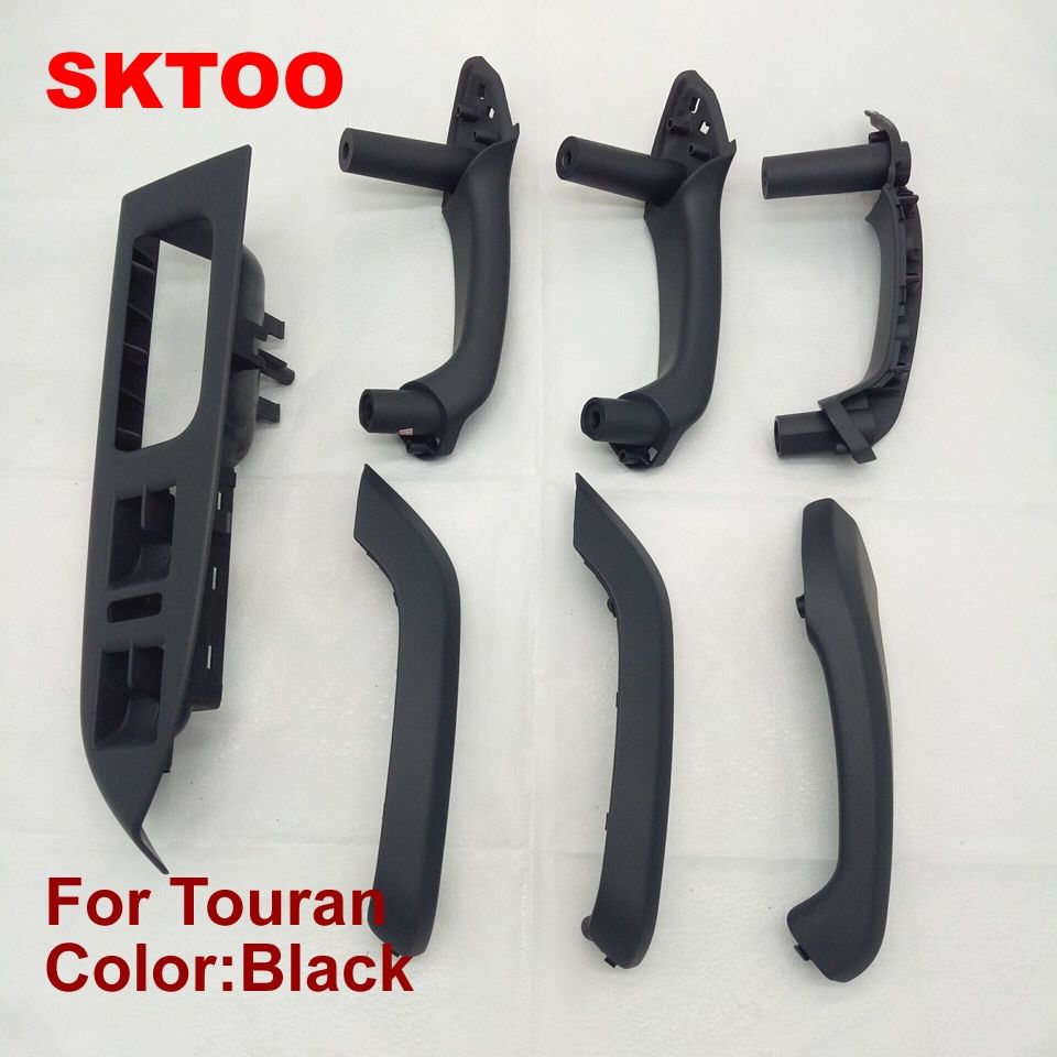 SKTOO 7 PCS for Volkswagen vw Touran door handle frame Inner Armrest Interior Door Grab Handle Cover window Switch Bezel
