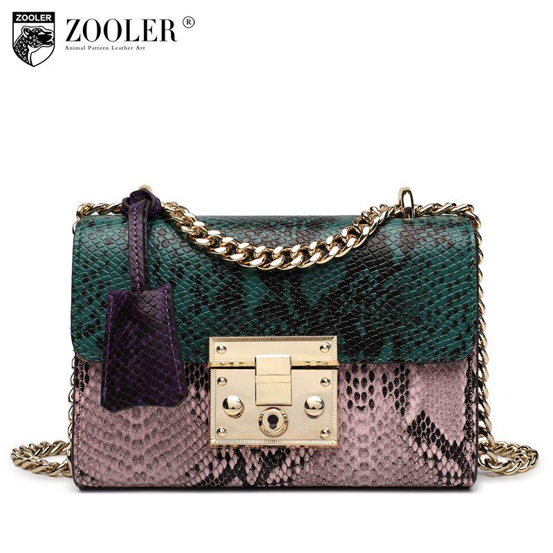 2018 Hottest ZOOLER genuine leather bag women luxury bags handbags woman famous brand chain shoulder bags bolsa feminina #1911