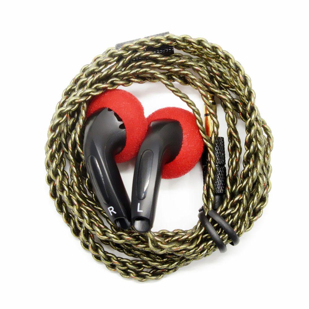 100% nouveau FENGRU bricolage EMX500 écouteurs intra-auriculaires prise tête plate bricolage écouteur HiFi basse écouteurs DJ écouteurs lourd basse qualité sonore