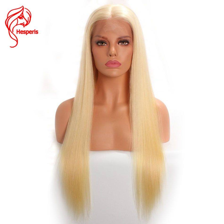 Hesperis 613 Full Lace Wig Human Hair Pre plucked With Baby Hair Brazilian Remy Blonde Glueless Full Lace Wigs Silky Straight