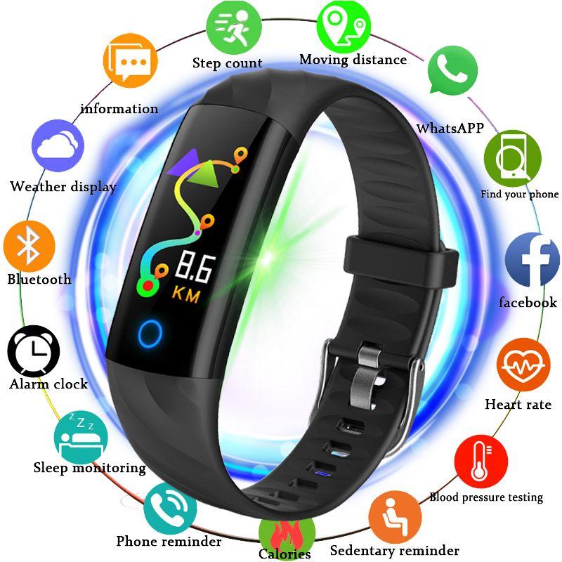 BANGWEI 2018 New Sport Waterproof Watch Men Smart Watch Heart Rate Monitor Bblood Pressure Fitness Tracker Pedometer Band+Box