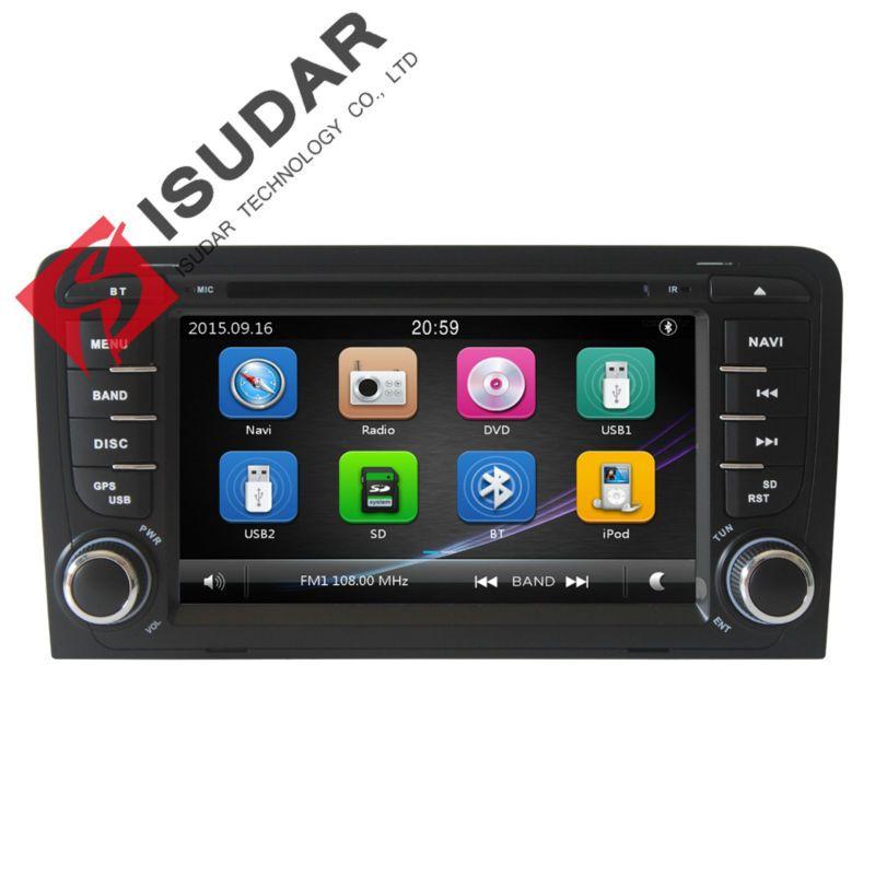 Емкостный Экран! Два din 7 дюймов dvd-плеер автомобиля для Audi/A3/S3 2002-2011 Canbus Радио GPS Bluetooth 1080 P навигации fm Географические карты