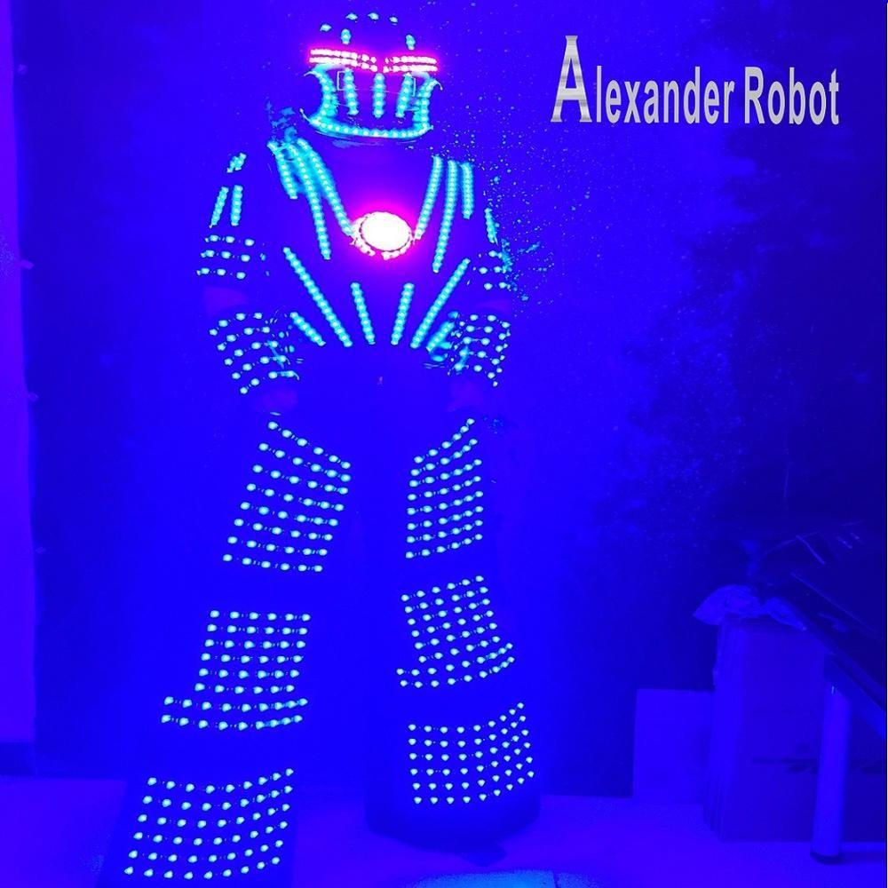 Alexander roboter/LED roboter anzug Kostüm/LED Kleidung anzüge/LED-Robot anzüge