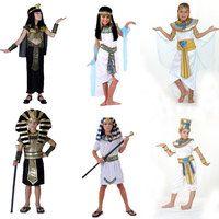 Umorden disfraces de Halloween de niño niña Antiguo Egipto faraón egipcio Cleopatra Príncipe princesa traje para niños Cosplay