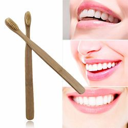 1 unids ambiental portátil diente Cepillos bambú oral Cuidado dientes Cepillos eco Soft natural medio dientes Limpieza Cepillos