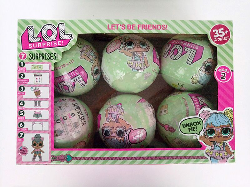 New LOL 8pcs 6pcs/lot Series 1 & 2 Surprise Doll Water Spray Color Change Egg Ball Dolls Educational Novelty Action Figure Toy