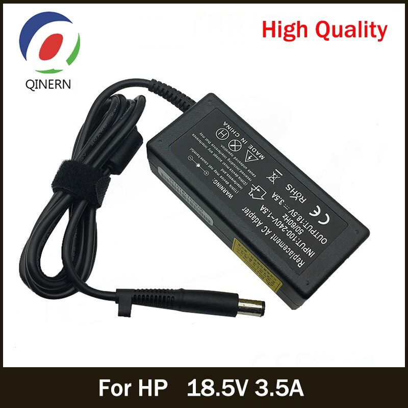 QINERN 18.5V 3.5A 65W Laptop Universal Power Supply Adapter Charger For HP For Compaq 6720s 500 510 Computer charger for laptop