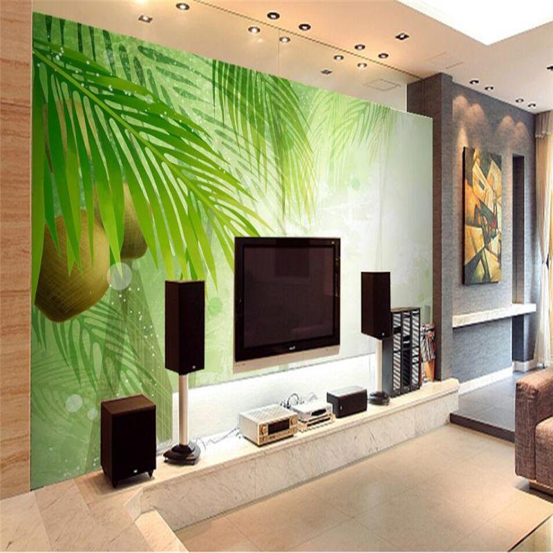 Beibehang papel de parede Nature Landscape Green Leaf Photo Wallpaper Background Decorative Living Room Bedroom Wallpaper