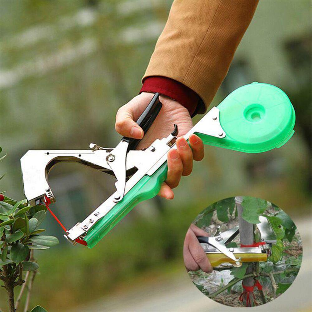 High Quality Plant Branch Hand Tying Binding Machine Flower Vegetable Garden Tapetool Tapener + 20Pcs Tapes Garden Tools