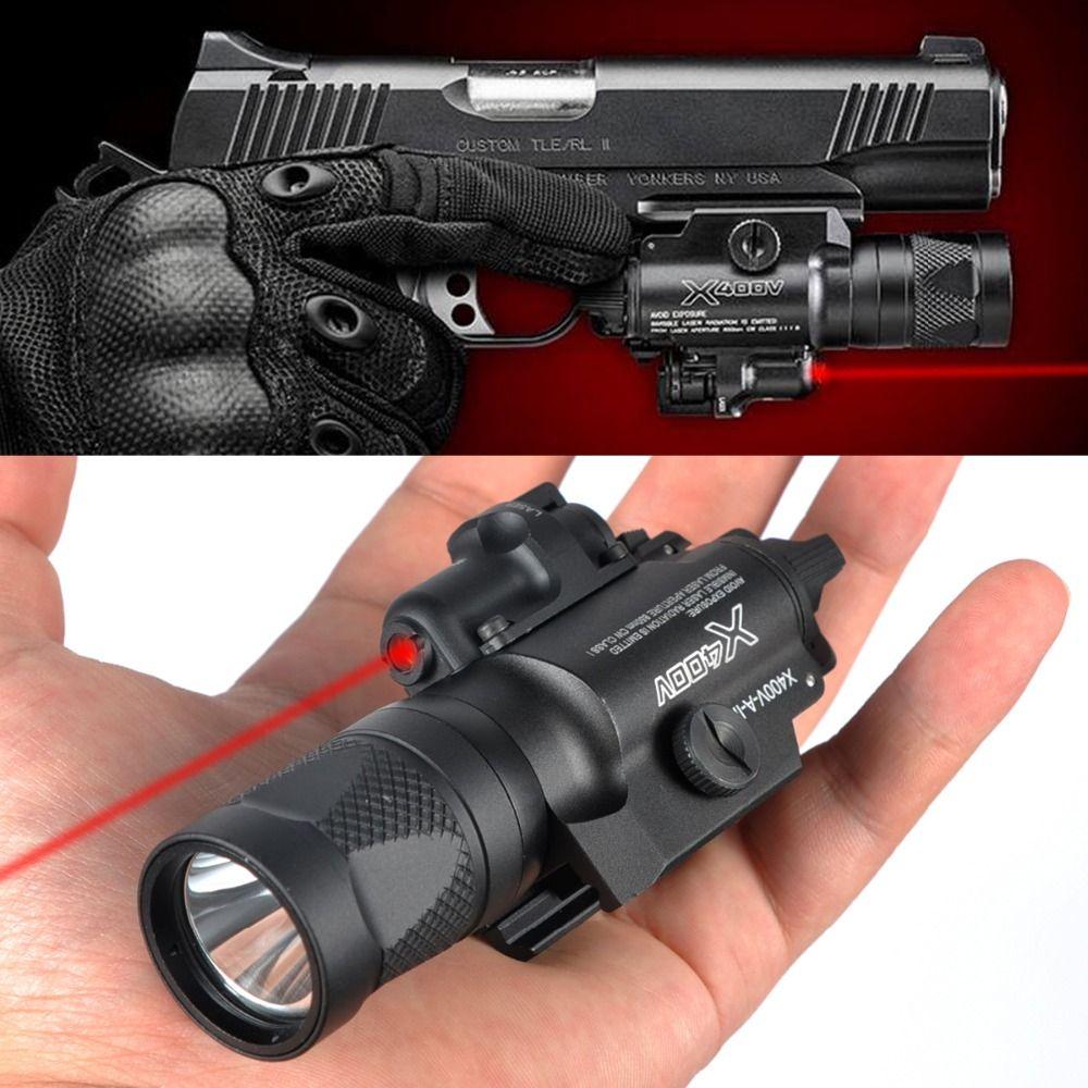 LAMBUL X400V IR Nacht Vision Waffe Licht Combo Laser Tactical Pistol LED Rot Laser Taschenlampe Ultra Hohe Ausgang Waffen