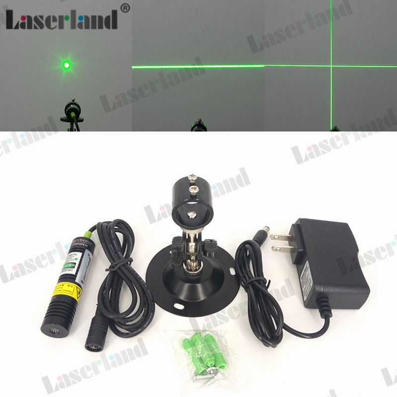 1875 532nm 10mW 20mW 30mW 50mW Dot Line Cross Green Laser Module Diode Locator for Wood Fabric Cutting Cutter Adapter Mount
