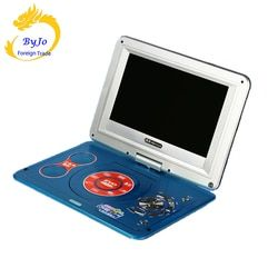 DVD player portable TV 13 inch 1280P HD digital LED TV Player with FM TV Game Card Read Function and U Drive Play
