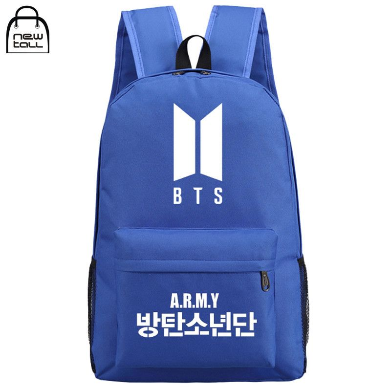 Kpop BTS Bangtan Boys New Logo Door ARMY Letter Backpack Student Schoolbag Shoulder Bag Fans Collection