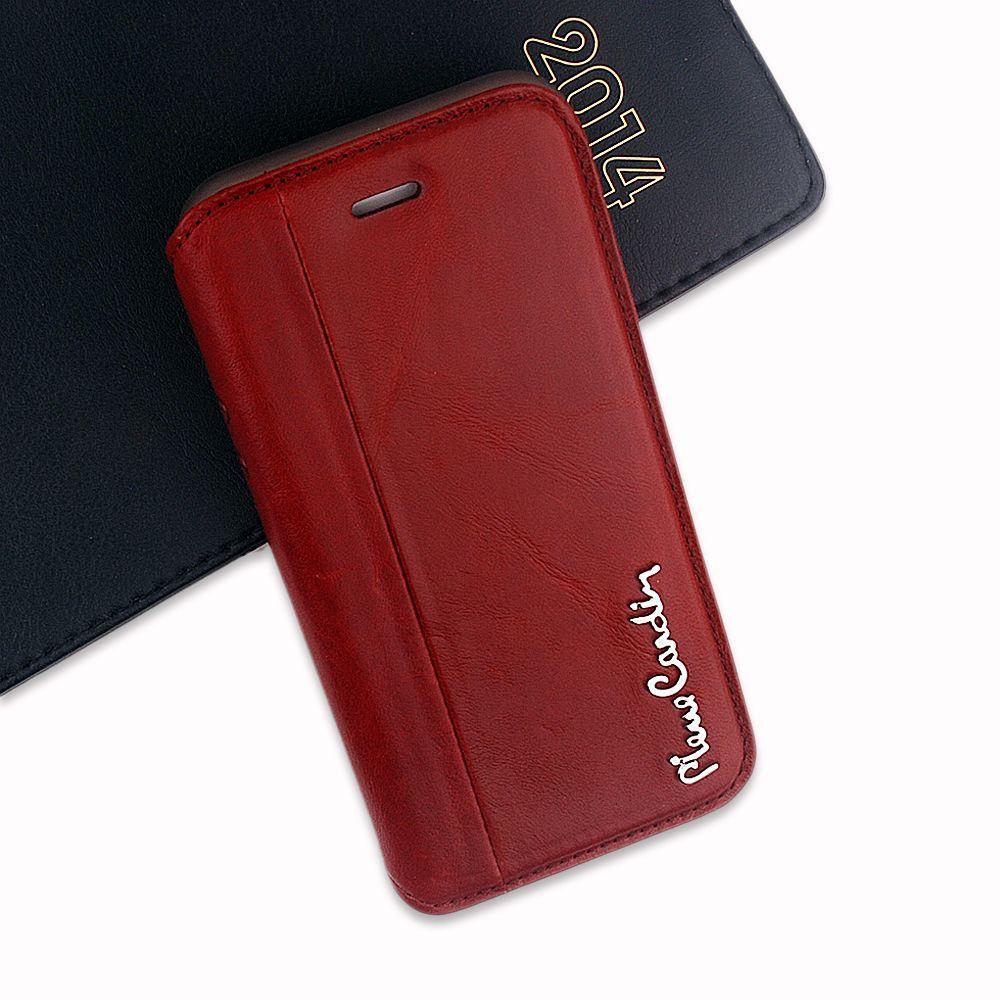 Neue Pierre Cardin Fashion Flip Fall Für iPhone 6/6 S 4,7 Zoll echtes Leder und TPU Abdeckungsfall Mit Staub Stecker und Stand Funtion