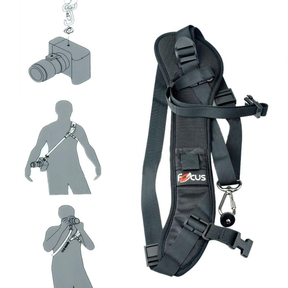 Focus F-1 Quick Rapid Carry Speed Soft Pro Shoulder Sling Belt Neck Strap For Camera SLR DSLR Black + Free Shipping