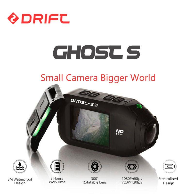 Drift Geist S Action Sports Kamera Motorrad Fahrradhelm mini Cam mit WiFi Wasserdichte Lcd-bildschirm 160 Grad Weitwinkel objektiv