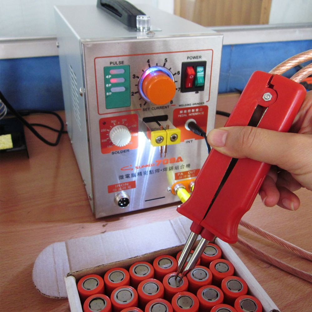SUNKKO 709A Pulse spot welder 1.9KW LED Pulse lith Battery Spot Welder Spot Welding Machine for 18650 battery pack Spot welding