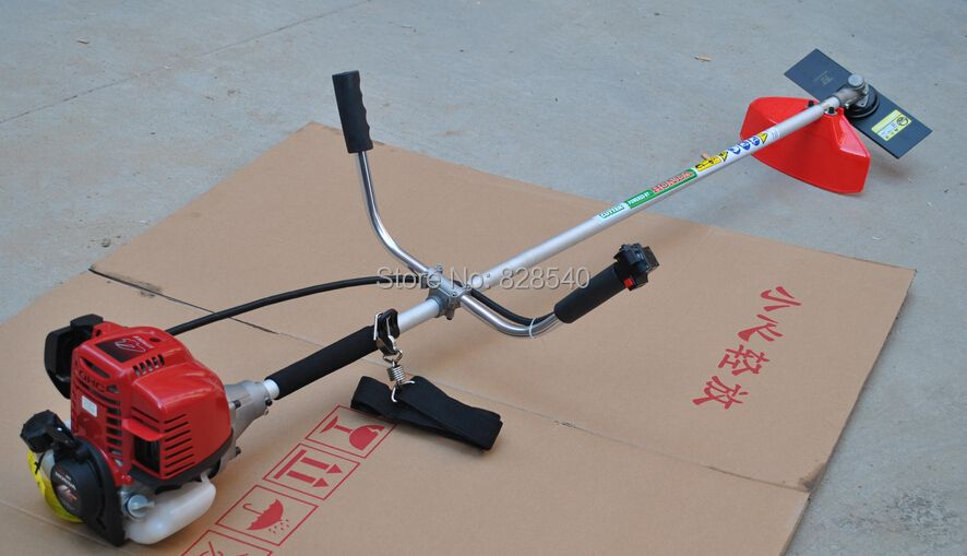 2 in 1 Grass cutter with 4 stroke Gx35 Engine Brush cutter Petrol strimmer Trimmer Line Tree Pruner with Bicycle handle