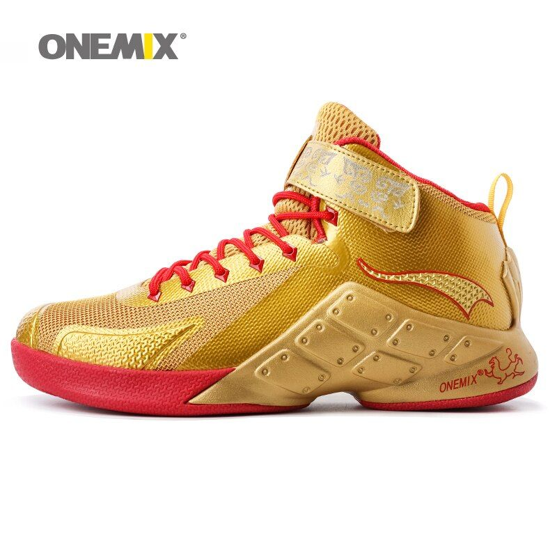 Onemix Basketball Shoes for Men Male Ankle Boots Anti-slip outdoor Sport Sneakers Big Size EU 39-46 for walking trekking shoes