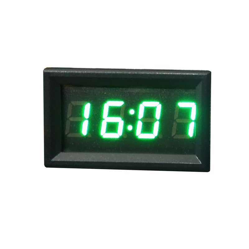 Top Brand Hot Sale Car Styling 12V/24V Dashboard LED Display Digital Clock Green Car Motorcycle Accessory Universal Best Selling
