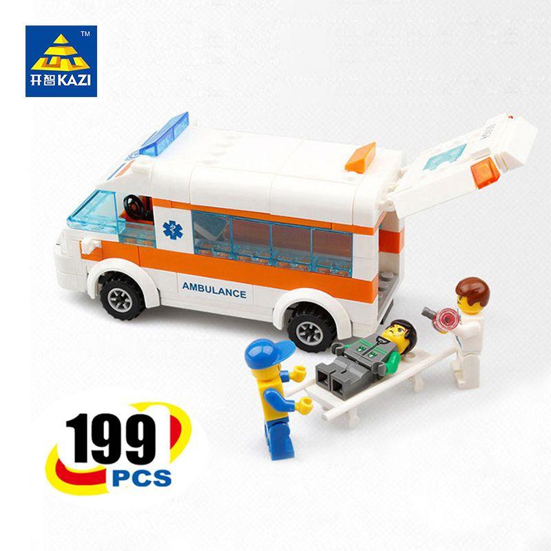 KAZI Ville Équipe de Sauvetage Ambulance Briques Enfants Éducatifs D'apprentissage Blocs de Construction pour Âges 6 + Compatible avec lego