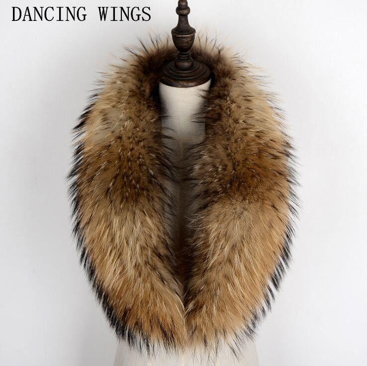 100% echten Waschbären Pelz Kragen Schal Für Mantel Abnehmbare Natürliche Waschbären Pelz Schal Für Frauen Echtpelz Kragen Hals Wärmer