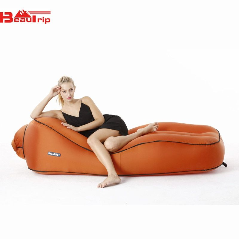 BEAUTRIP Inflatable Air Lounger Camping Mattress Indoor & Outdoor Picnics Sleeping Bed Waterproof Beds Sofas Drop Shipping