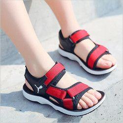 Sandalias del muchacho 2018 nuevos niños zapatos de playa sandalias suaves antideslizantes niño Medio Verano niños zapatos size26-37