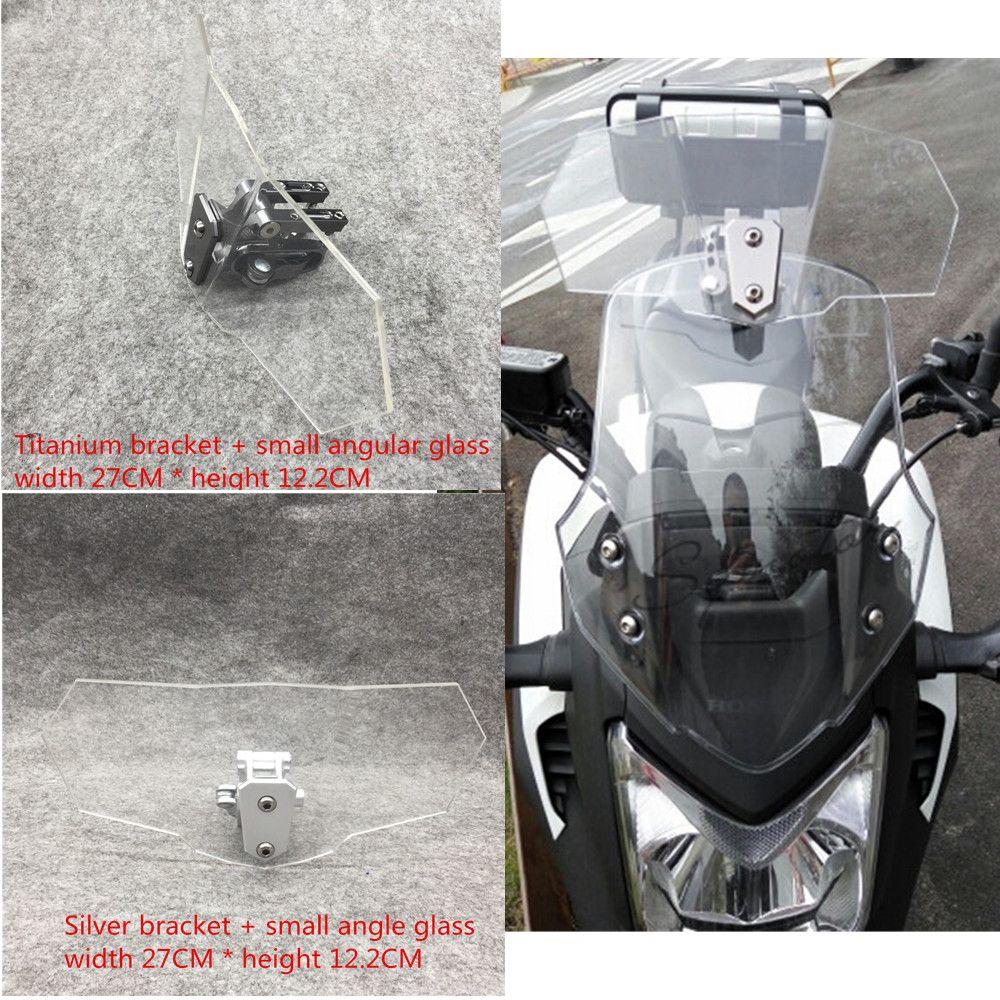 Roller windschutz motorrad FÜR harley windschutzscheibe yamaha r15 tmax 530 fz6 honda schatten 750 goldwing cb500x kawasaki ninja 300
