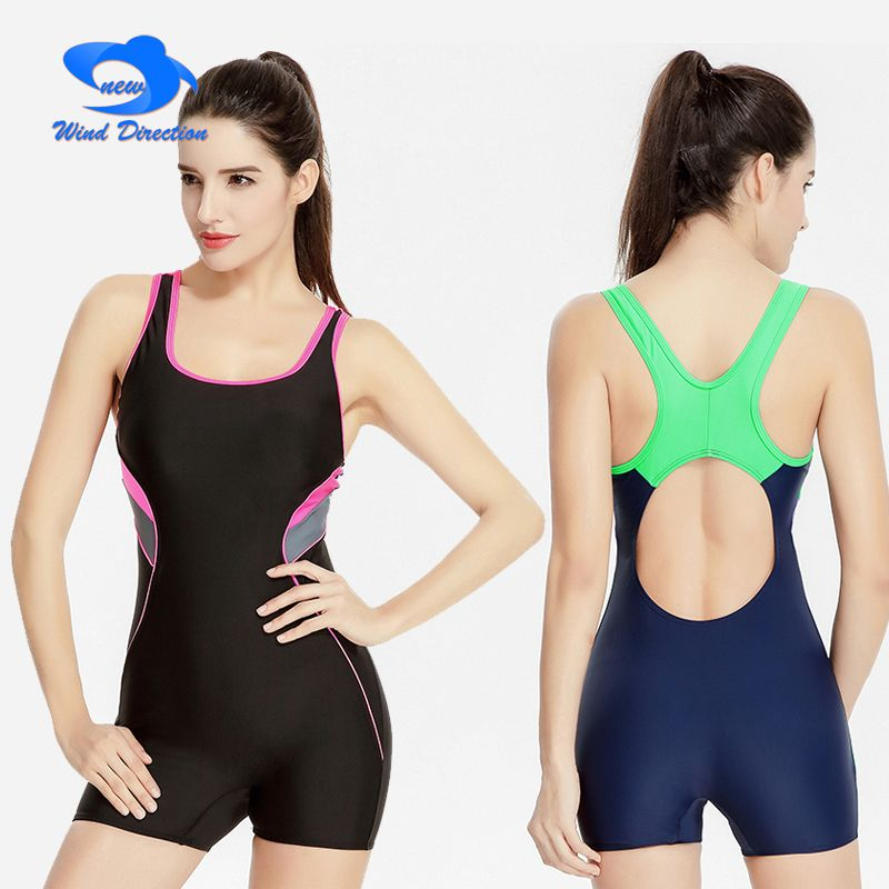 Sexy solid Flat angle Conjoined swimsuit one-piece women summer bathsuit Enjoy hot spring Breathable and soft beach swim tight