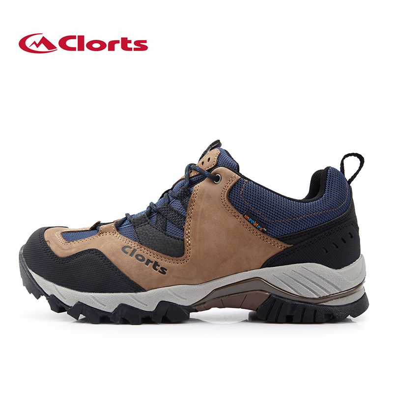 Clorts Hiking Boots for Men Outdoor Hiking Shoes Genuine Leather Trekking Shoes Waterproof Climbing Shoes HKL-826A