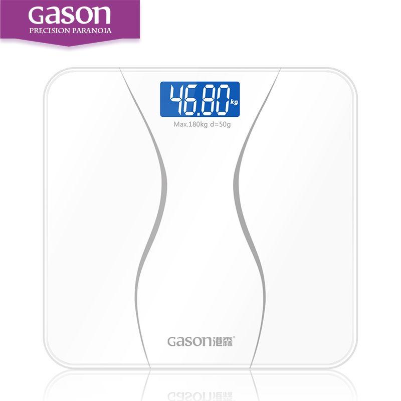 GASON A2 Précision Pèse Corps Smart Électrique Numérique Poids de Santé À Domicile Équilibre Trempé Verre LCD Affichage 180 kg/50g