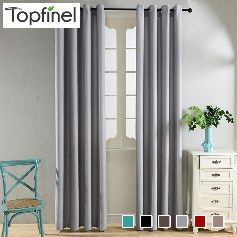 Topfinel Moderne Élégant Plaine Velours Rideaux pour Chambre Salon Fenêtre Rideau Rideaux Fenêtre Traitement 6 Couleur