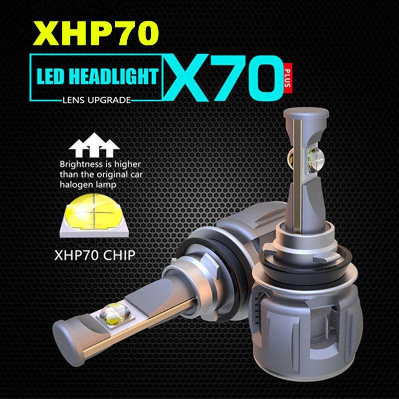 INLONG 2 Pcs H4 H7 Auto LED Scheinwerfer Birne H11 H8 9005 9006 HB4 H9 D4S D2S D1S XHP70 Chips 120 W 15600LM Scheinwerfer Nebel Lichter 6000 K