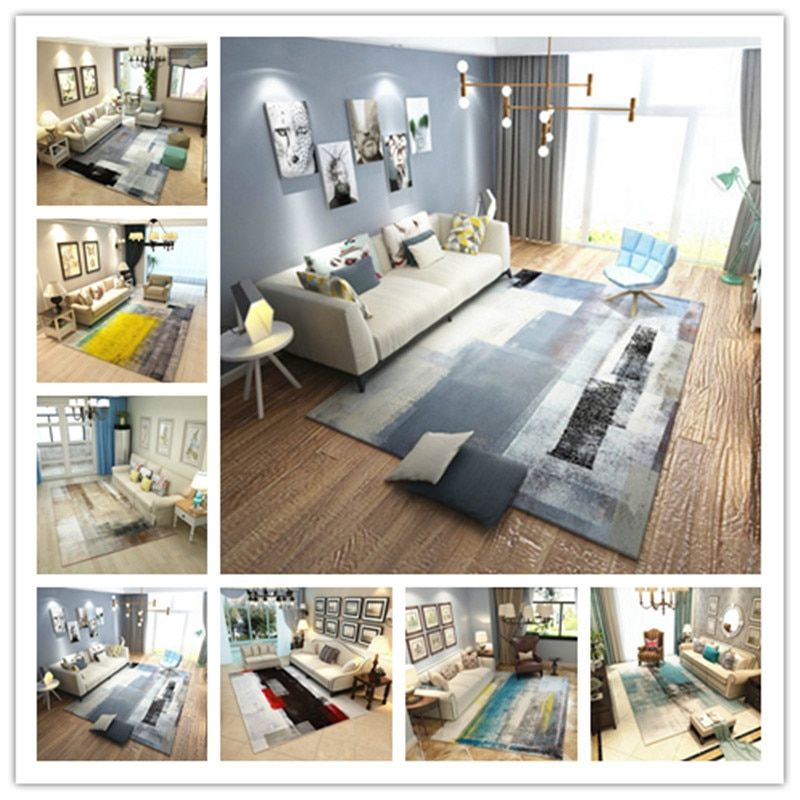 Rectangle Carpets Living Room large Area Decor Soft Rug Colorful Bedroom Floor Mat Rugs Fashion Household All-match Carpet