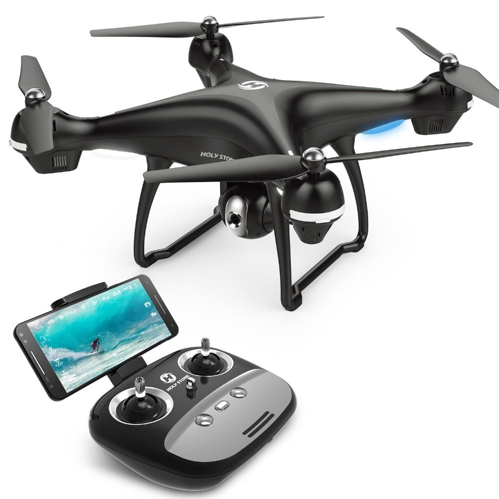 [EU USA Stock] Holy Stone HS100 GPS FPV RC Drone Wide Angle 720P 1080P Wifi Camera FPV Long Fly 7.4V 2500mA battery APP Control