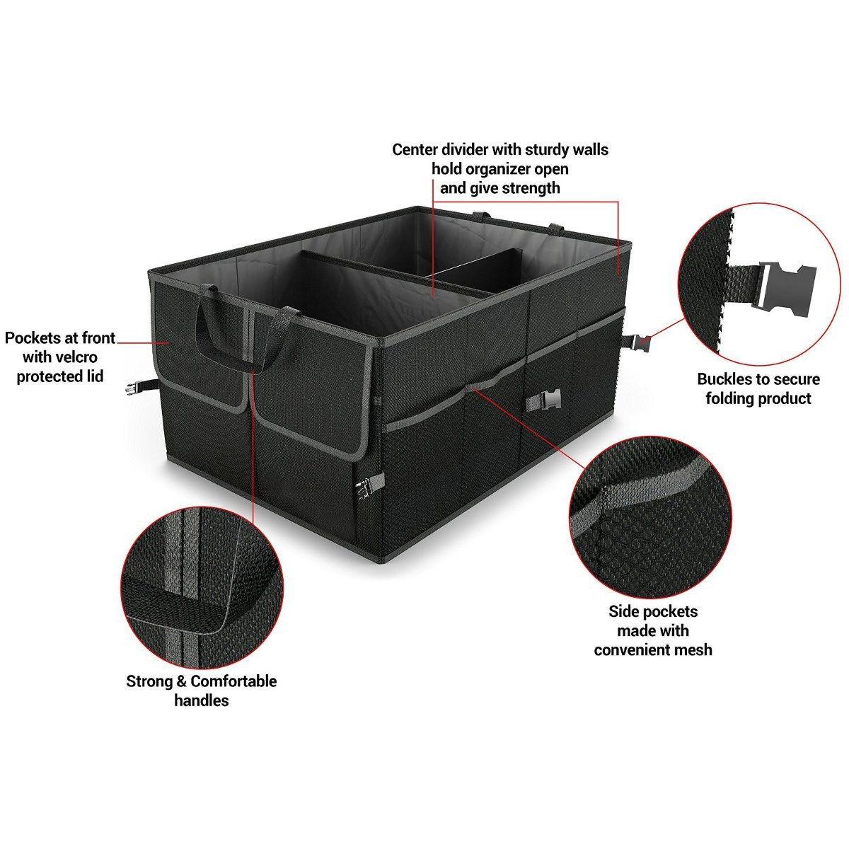 Черный складной багажник автомобиля, организатор грузового транспорта Портативный Инструменты складная сумка для хранения Дело Экономия ...