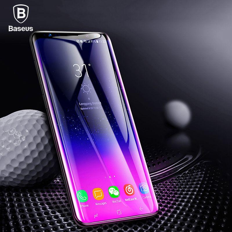 Baseus Screen Protector Für Samsung Galaxy S9 Volle abdeckung 3D Arc Gehärtetem Glas Für Galaxy S9 Schutz Glas Film