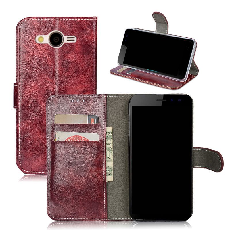 Case For Samsung Galaxy Core 2 Dual SIM G355H SM-G355H G355 G3559 Leather Flip Cover Protective Phone Bags Vintage Wallet New