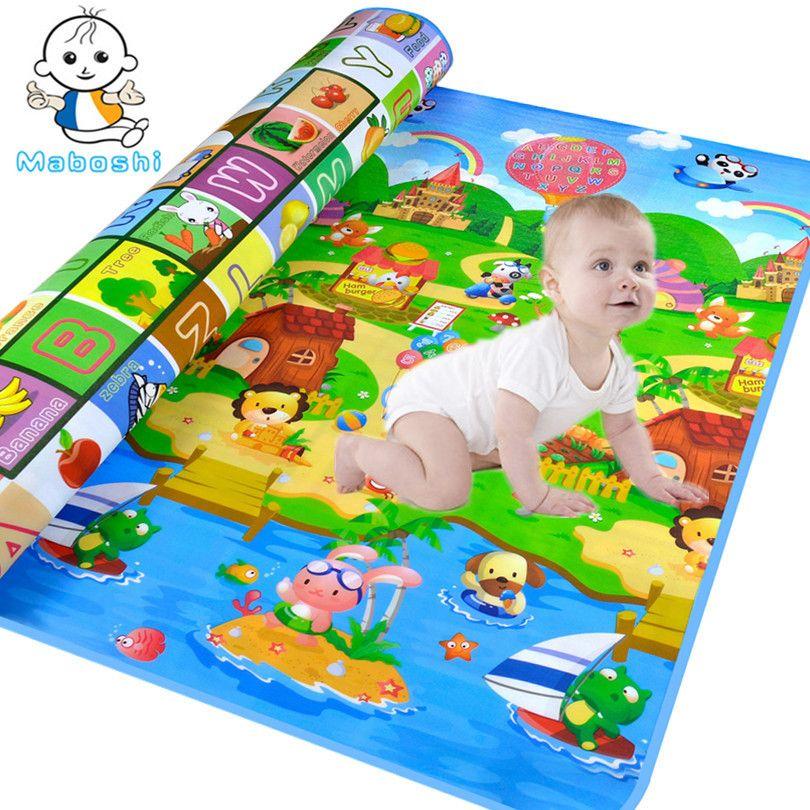 Maboshi Waterproof Double-Sides Children Play Mat Kids Game Mat Rugs Baby Crawling Mat Soft Eva Foam Carpet Child Baby toys