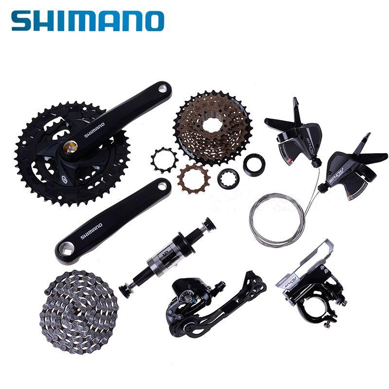 SHIMANO M370 MTB Groupset Group Set 3x9 27-speed 22-32-44T 170mm Bike Bicycle Groupset 7 pcs