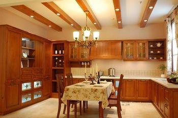 wooden  european style kitchen cabinet(LH-SW053)