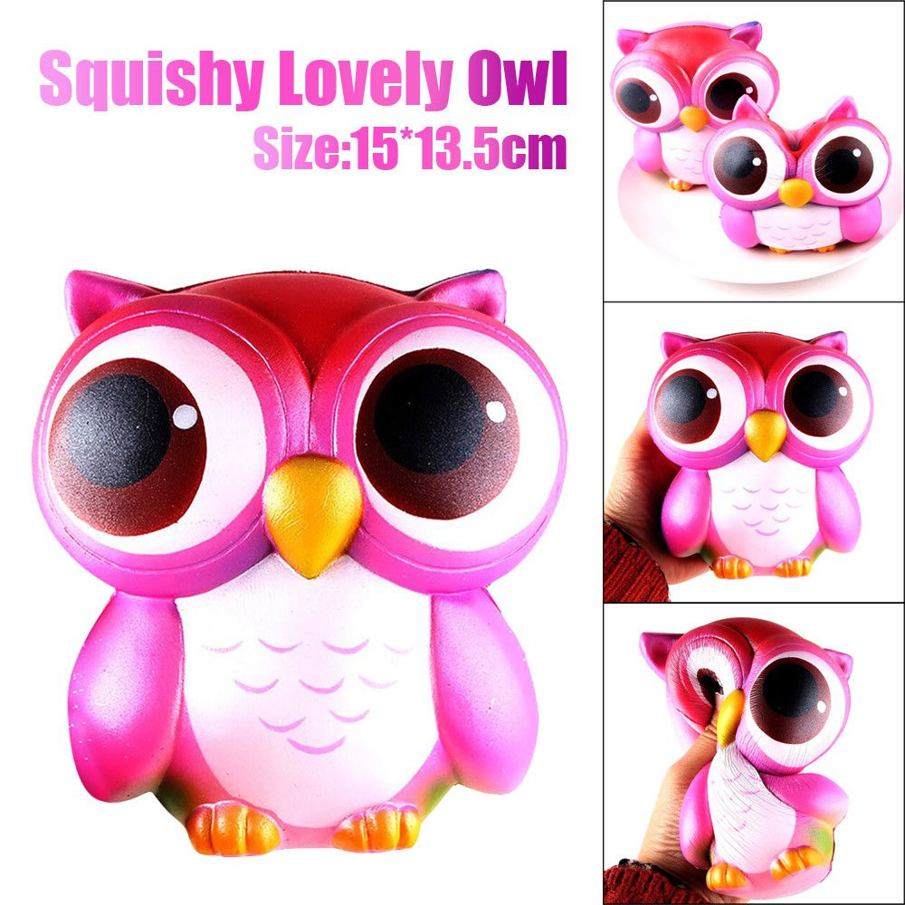 GiftsOwl Cream Scented Squishy Slow Rising Squeeze Toys  Relieve Stress Toy for kids 15cm Lovely Pink blue Collection toys