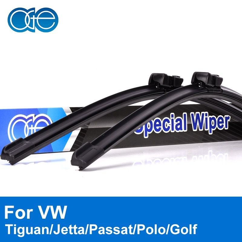 Oge Wiper <font><b>Blades</b></font> For VW Jetta Passat Tiguan Golf Polo Touran Caddy 2005-2016 Windscreen Windshield Rubber Car Auto Accessories