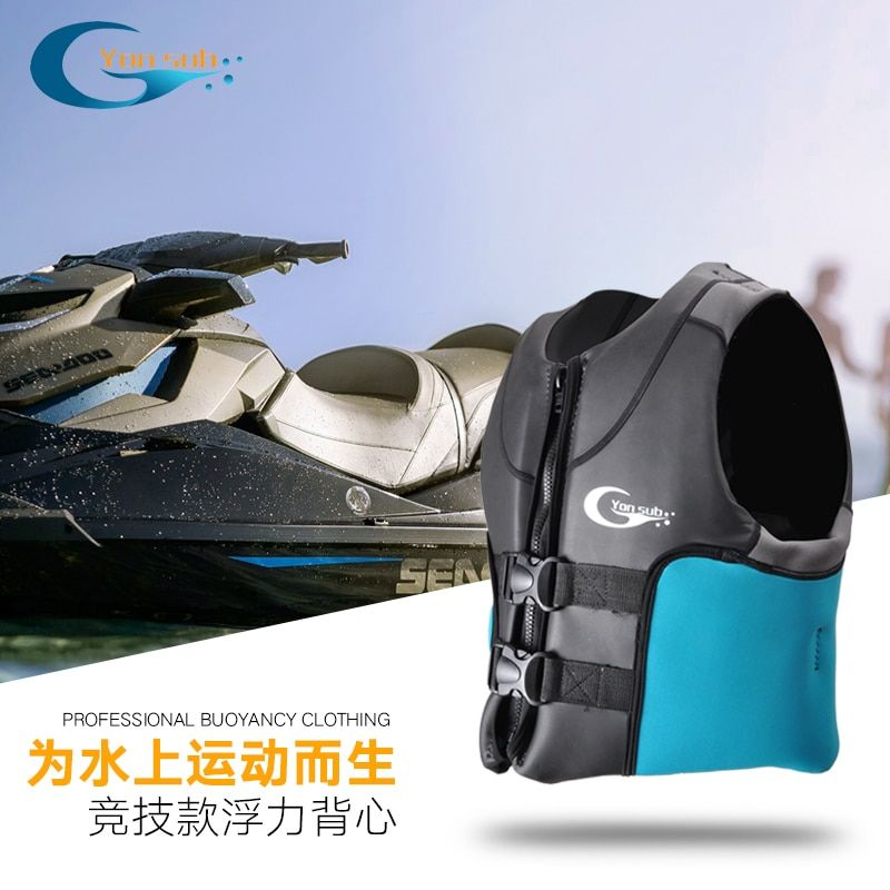 Thick High Buoyancy Adult Life Jackets Professional Water Sports Equipment Use For Motorboat