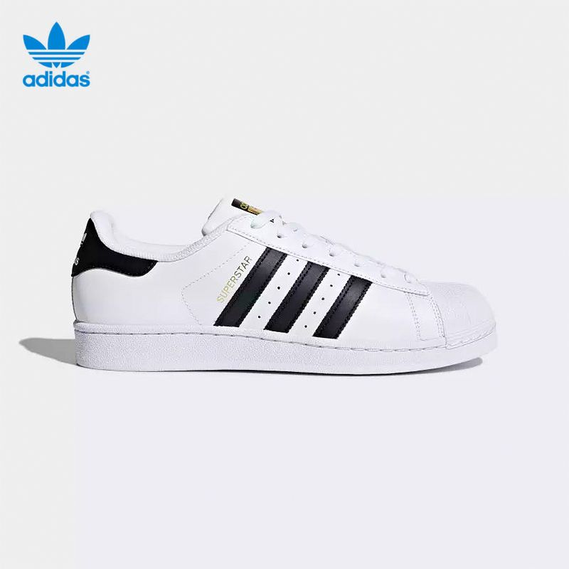 Authentic Adidas Sneakers Originals Superstar Classics Unisex Men Women Genuine Leather Breathable Skateboarding Shoes Sneakers