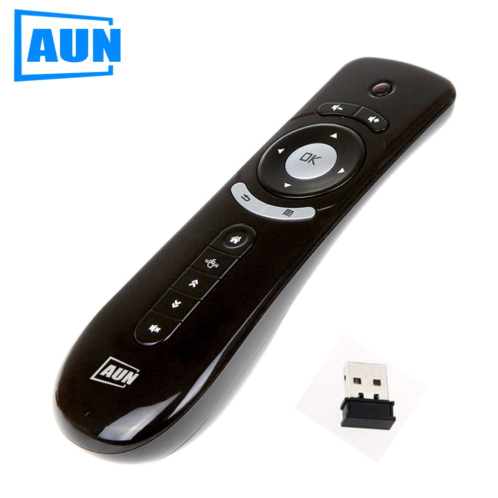 AUN Mini Fly Air Mouse 2.4G Wireless Remote Combo Built-in 6 Axis for PC, Android Tv Box, Android Projector Motion Sensing Gamer