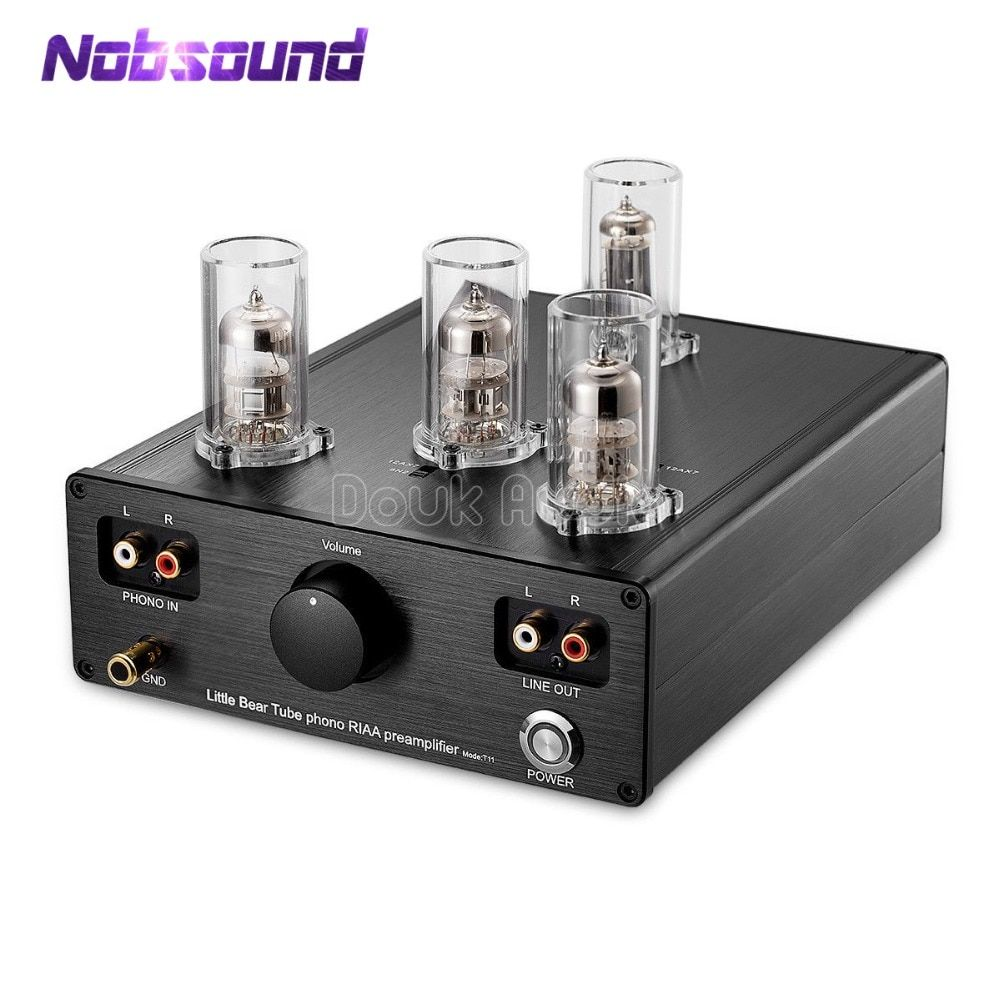 2019 Nobsound Neuesten Kleine Bär T11 6N2/12AX7 Vakuum Rohr Phono Plattenspieler Preamp HiFi Pre-Amp MM RIAA phonographen Pre-verstärker